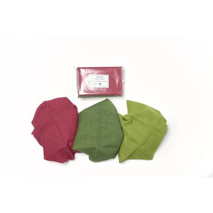 Filges Jahreszeitentücher, Sommer, 65x65cm, Wolle