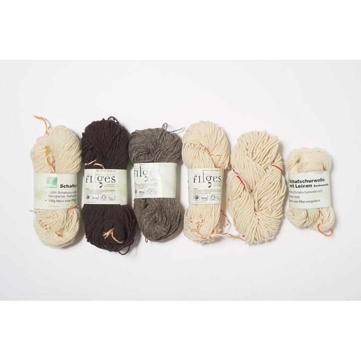 Filges Schafschurwolle, Naturtöne, Nm4/2 100g  natur