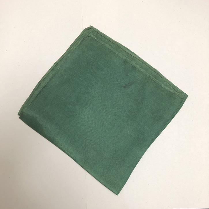 Filges Seidentuch, tannengrün, pflanzengefärbt, 28 x 28cm 2.Wahl