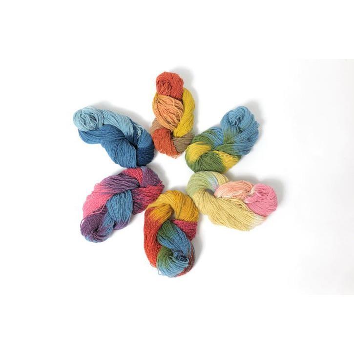 Filges Sockenwolle Wolle/Leinen, 80/20%, multicolor, kräftig, Lauflänge 100g, 300m Nadelstärke 2,5