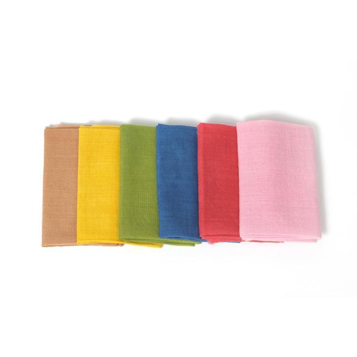 Filges Spieltuch, pflanzengefärbt, 65x65cm, Wolle, 2.Wahl, rot