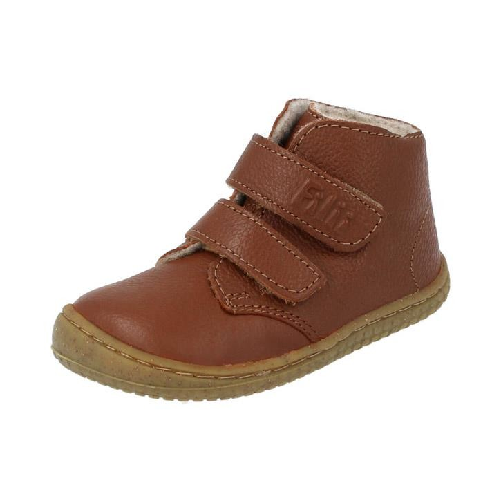 Filii-Barefoot Klett Bio Wool fleece cognac softFEET