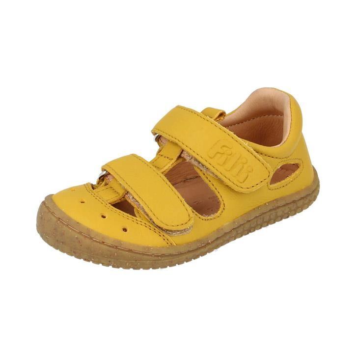 Filii-Barefoot Sandale Bio KAIMAN velcro nappa lemon Mittel