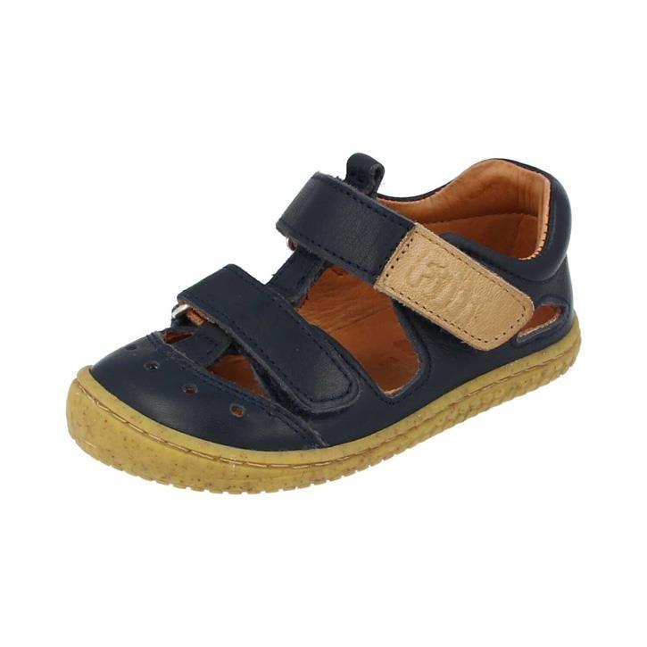 Filii-Barefoot Sandale Bio KAIMAN velcro nappa ocean Weit