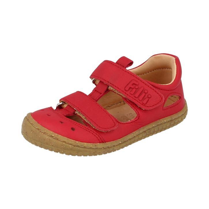 Filii-Barefoot Sandale Bio KAIMAN velcro nappa strawberry Mittel