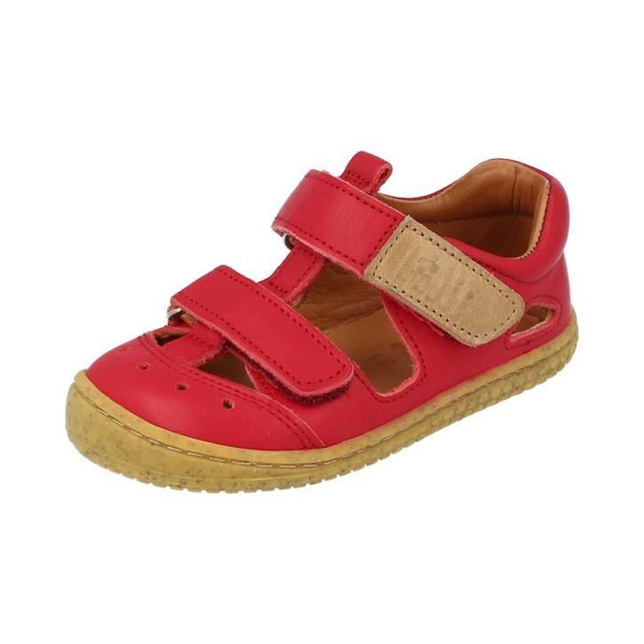 Filii-Barefoot Sandale Bio KAIMAN velcro nappa strawberry Weit