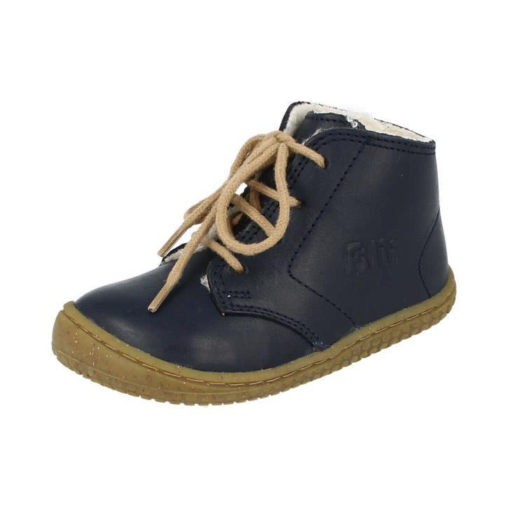 Filii-Barefoot Schnürer Bio nappa navy wool laces Barfußschuh