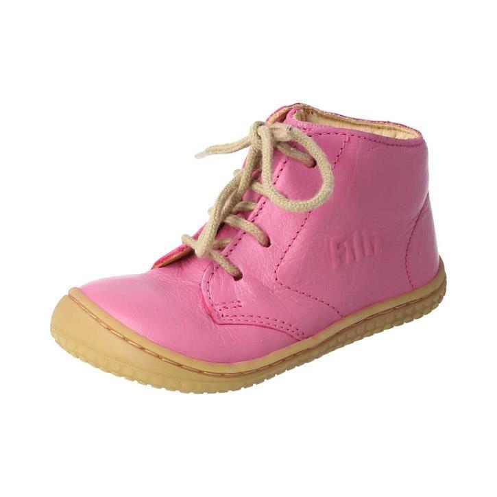 Filii-Barefoot Schnürer Bio Pink/Nappa - Mittel