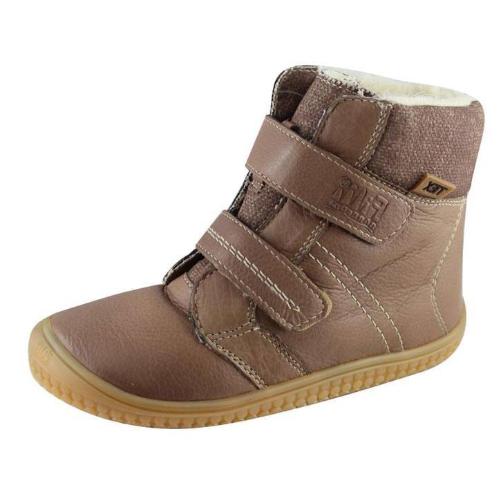 Filii-Barefoot Stiefel Bio Klett Wool cappuccino