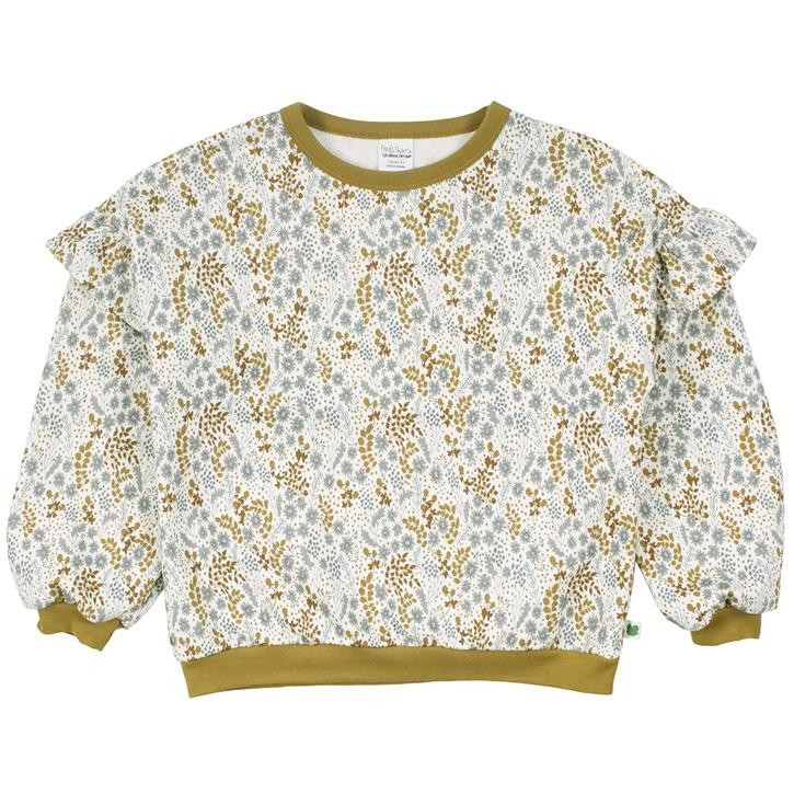 Freds World Botany frill top Sweatshirt Buttercream CO/95,EL/5