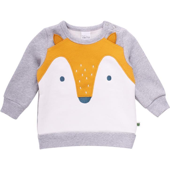 Freds World FOX Sweatshirt mit Fuchsapplikation Grey melange