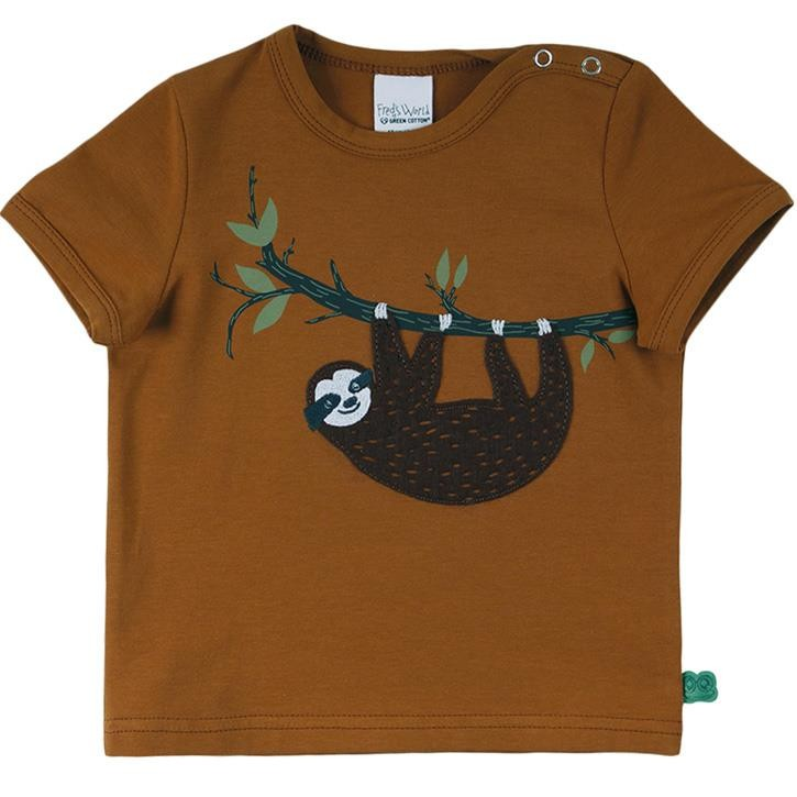 Freds World Sloth front s/s T-Shirt 74 Pecan CO/95,EL/5