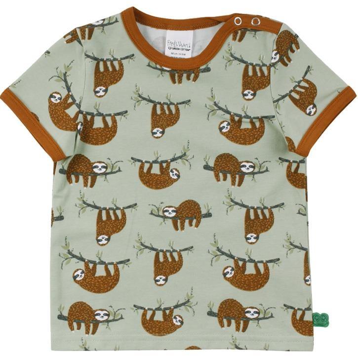 Freds World Sloth s/s T-Shirt Pale moss CO/95,EL/5