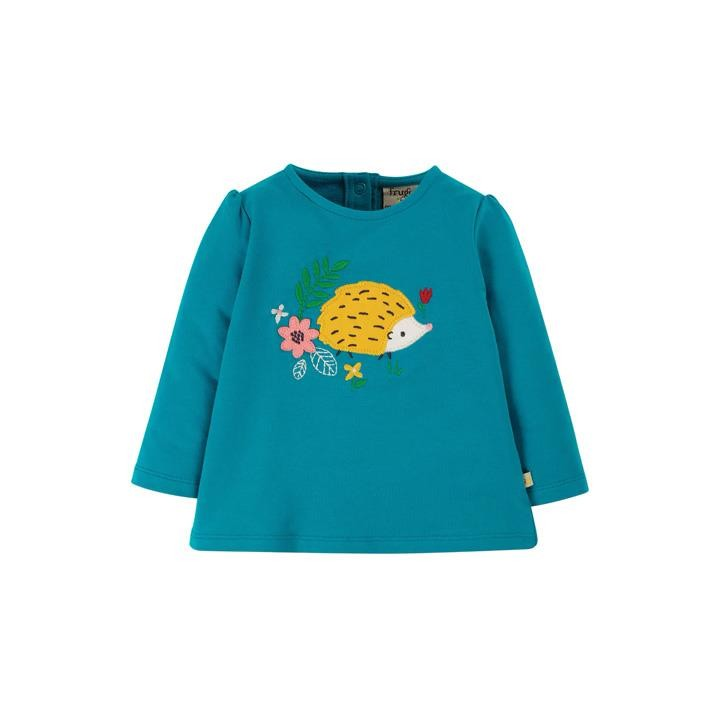 Frugi Ausgestelltes Sweatshirt Tobermory Teal/Hedgehog_AW20