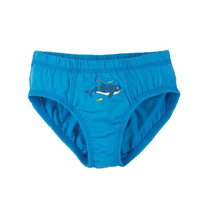Frugi Barney Printed Slip  Motosu Blue/Shark