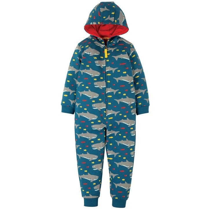 Frugi Big Snuggle Overall  Sharking Around