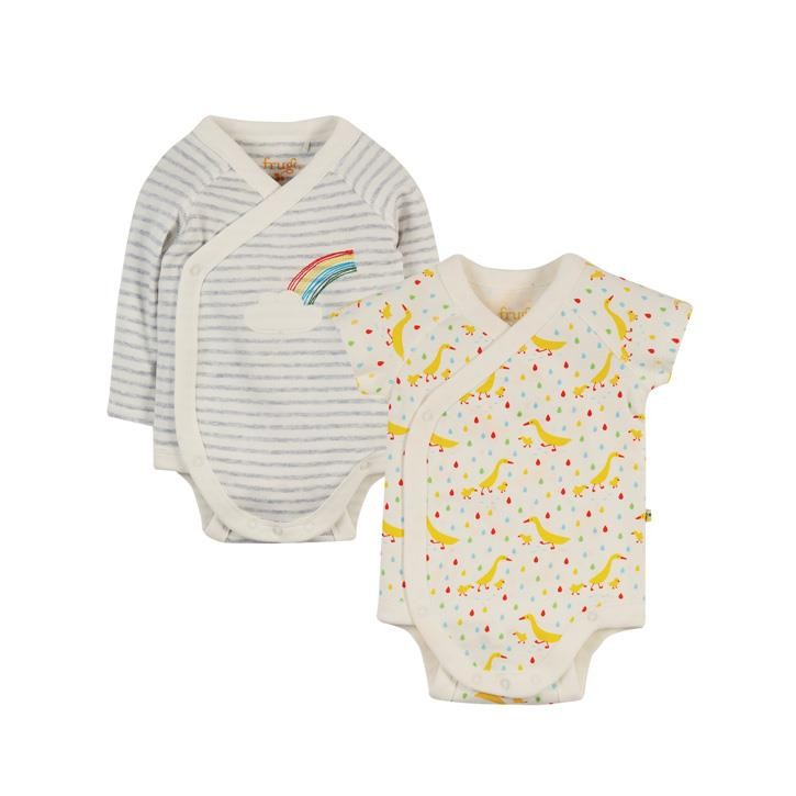 Frugi Body Shay langarm newborn Rainbow