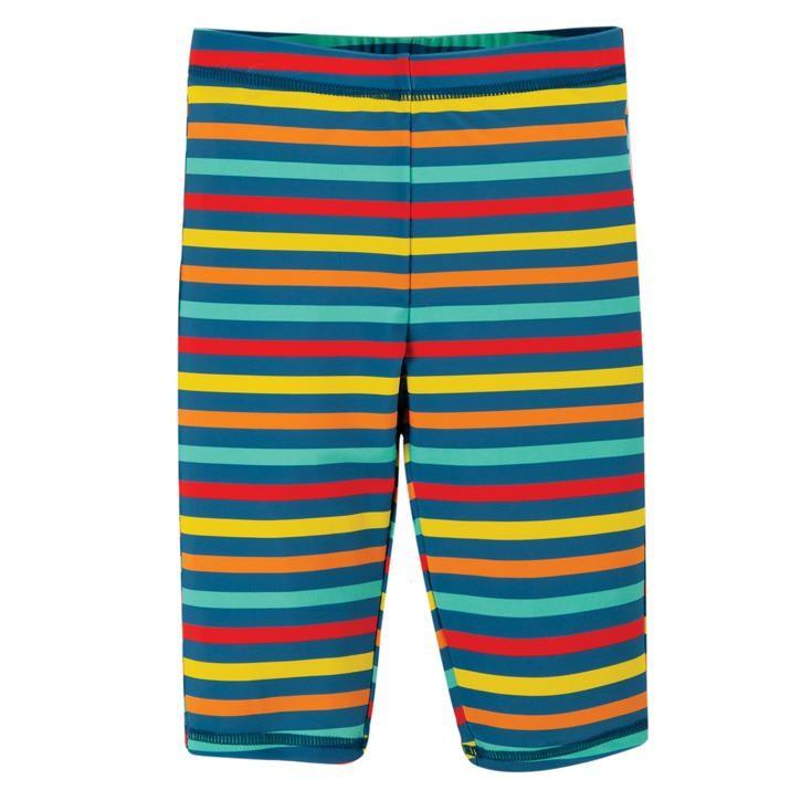Frugi Bunte Badehose mit längeren Bein Swim Stripe_AW20