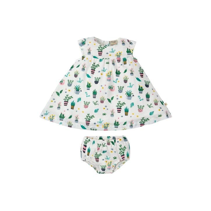 Frugi Dolly Muslin Outfit 2-3J Greenhouse