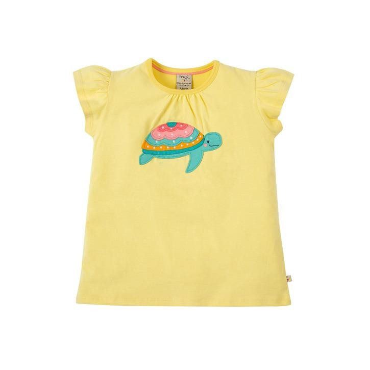 Frugi Ellie Applique T-shirt Sunshine/Turtle