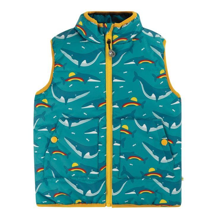 Frugi Entdecker Weste Regenbogen Rainbow Whales_AW20