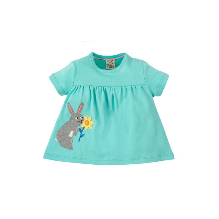 Frugi Eva Applique Top 12-18M St Agnes/Rabbit