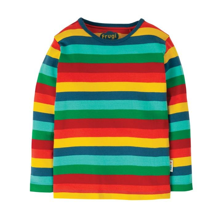 Frugi Favourite L/S T-Shirt  Steely Blue Multi Stripe