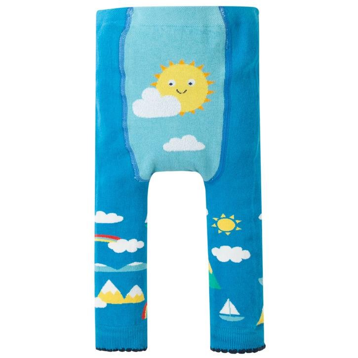 Frugi Fun Knitted Leggings  Bright Sky/Sun