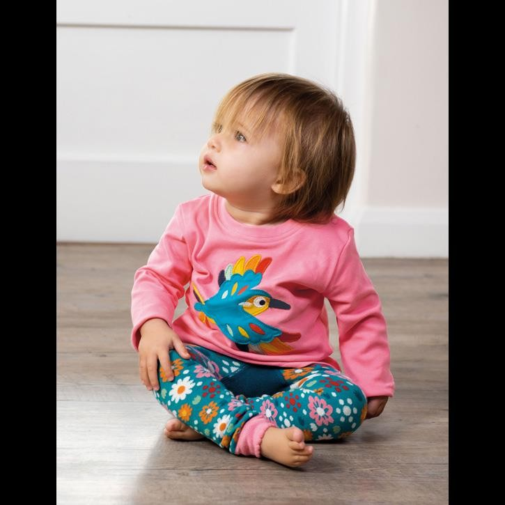 Frugi gemusterte Leggings Loch Blue/Flowers_AW20