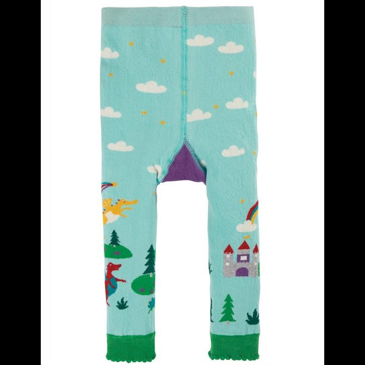 Frugi gemusterte Leggings Shore Blue/Dragons_AW20