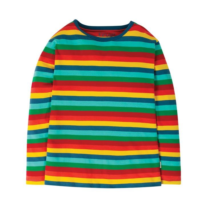 Frugi Grown Ups Favourite T-Shirt  Steely Blue Multi Stripe