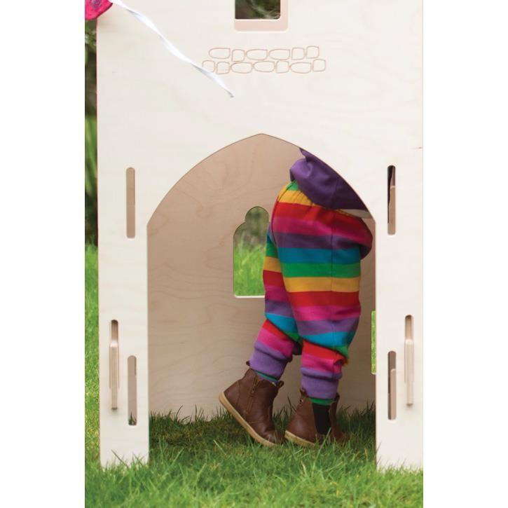 Frugi innen angeraute Nabelbundhose Foxglove Rainbow Stripe_AW20