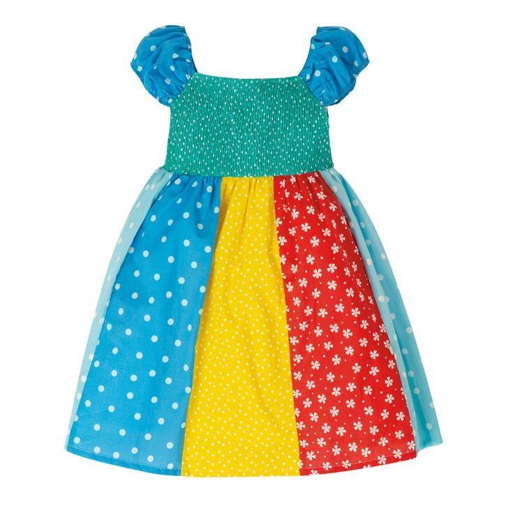 Frugi Kiki Hotchpotch Kleid  Rainbow Hotchpotch