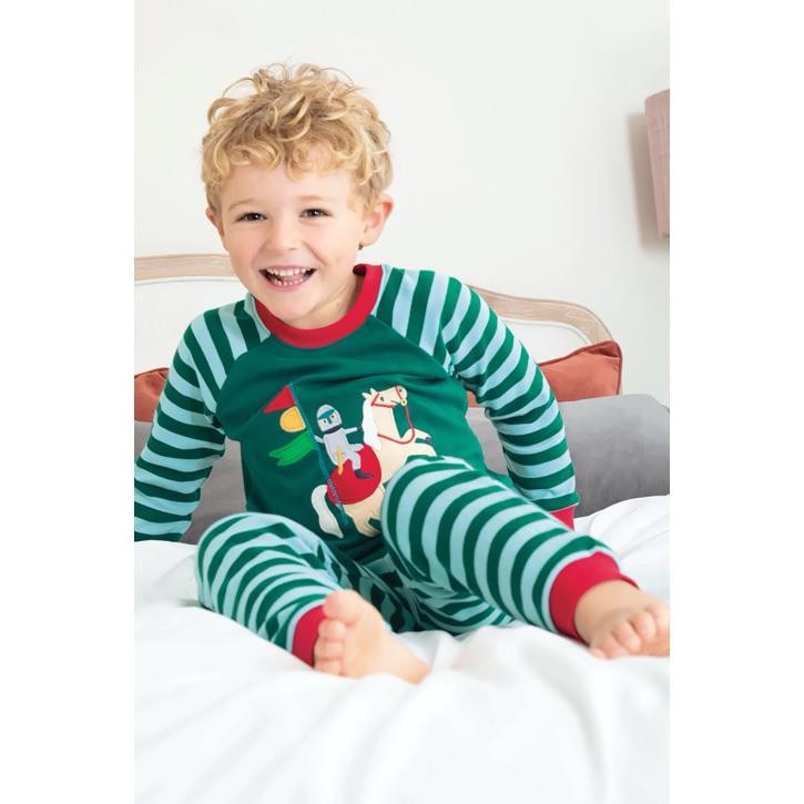 Frugi Kinder Schlafanzug Indigo/Knight_AW20