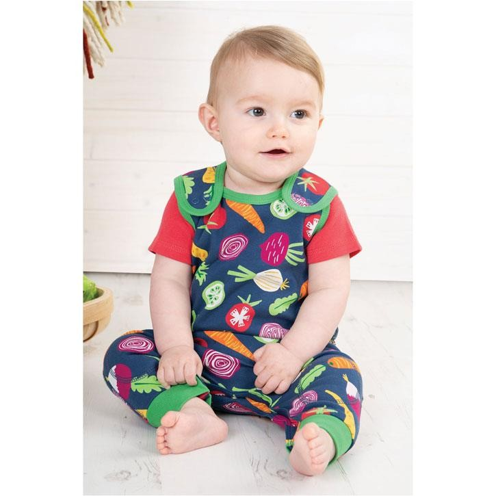 Frugi Kneepatch Dungaree Homegrown
