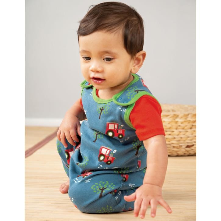 Frugi Kneepatch Latzhose  Tractor Fields