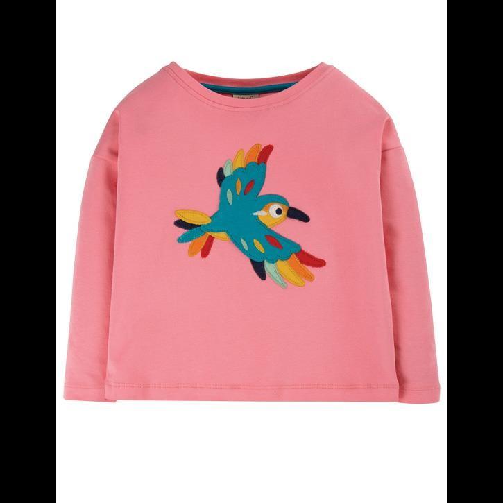 Frugi Langarm Sweatshirt Guava Pink/Bird_AW20