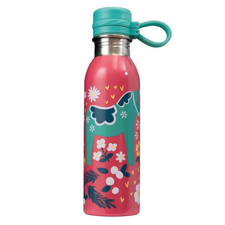 Frugi Large Splish Splash Bottle, Watermelon/Dala Floral, O/S