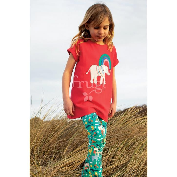 Frugi Libby Printed Leggings, Jewel India,  GOTS