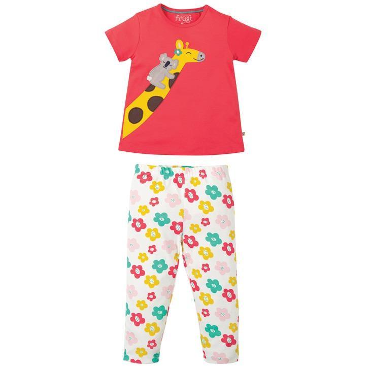 Frugi Lila Schlafanzug  Watermelon/Giraffe