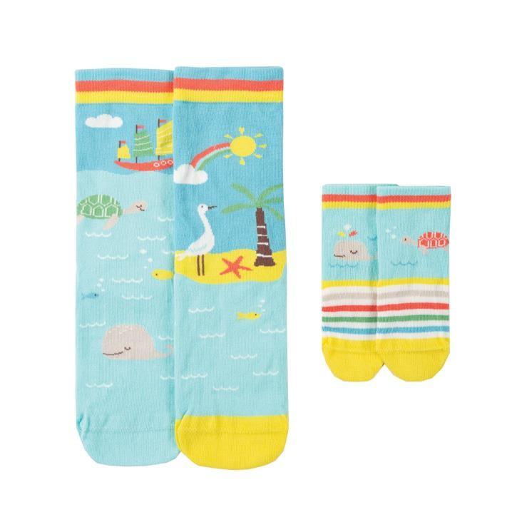 Frugi Little & Large Socken  Whale Mulitpack