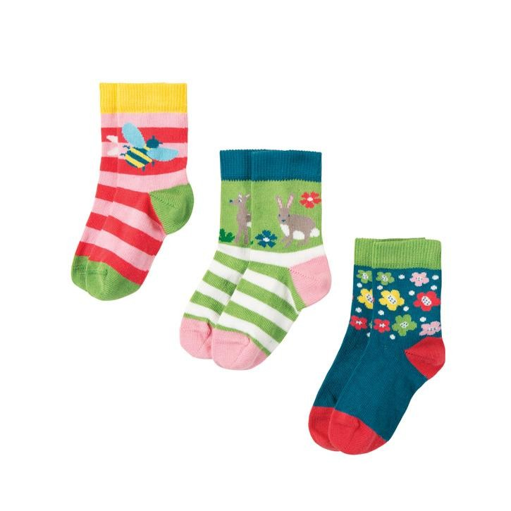 Frugi Little Socken 3er Pack  Deer Multipack