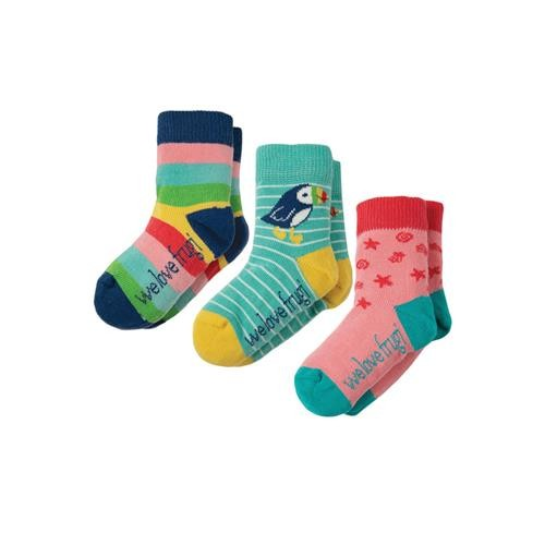 Frugi Little Socks 3 Pack Rainbow Mulitpack