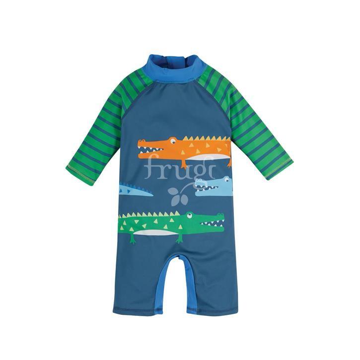Frugi Little Sun Safe Schwimmanzug India Ink/Crocs