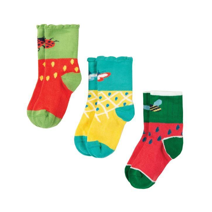 Frugi Little Tooty Socken 3er Pack  Fruit Multipack