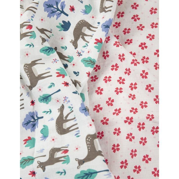 Frugi Lovely 2 Pack Muslin  Deer Multipack Onesize