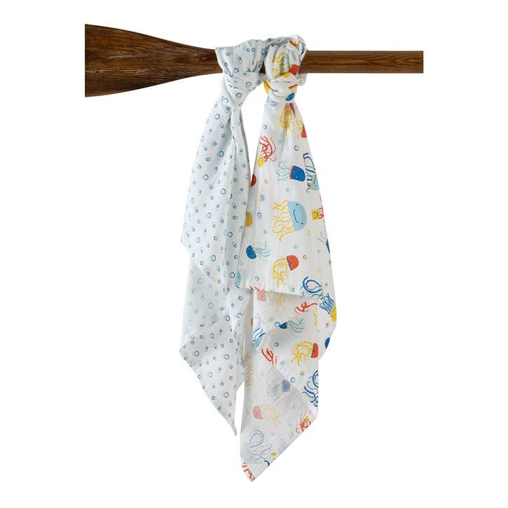 Frugi Lovely 2 Pack Muslin Onesize Jazzy Jellies Multipack