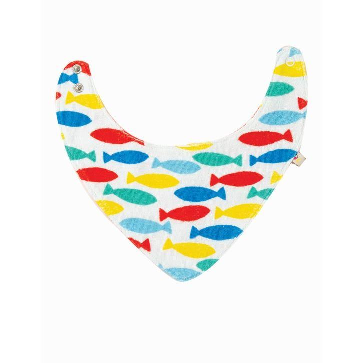 Frugi Marley Wende Lätzchen  Rainbow Fish Onesize