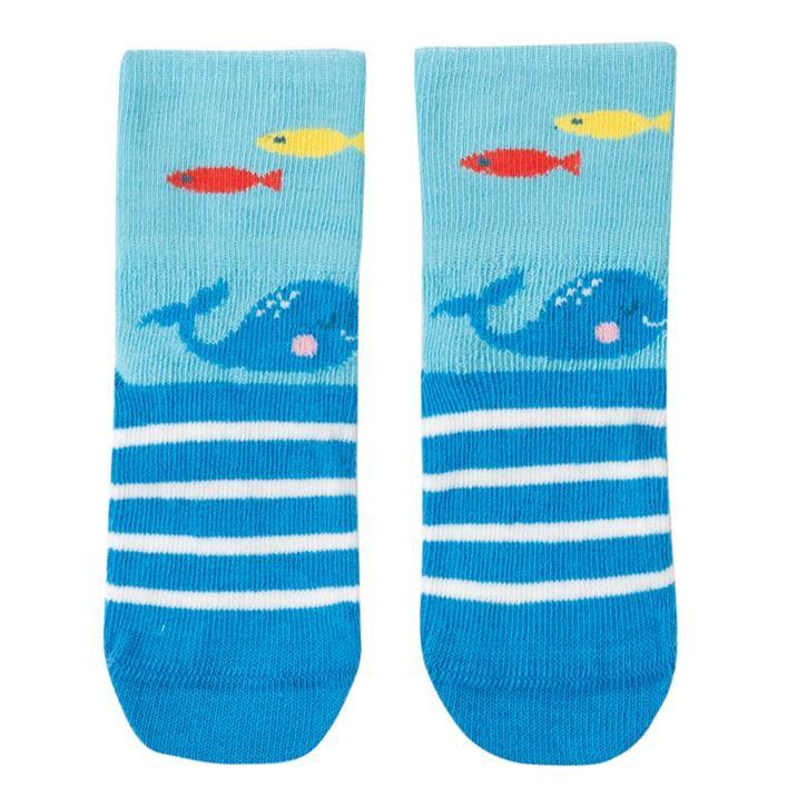 Frugi Perfect Little Pair Socken  Bright Sky/Whale