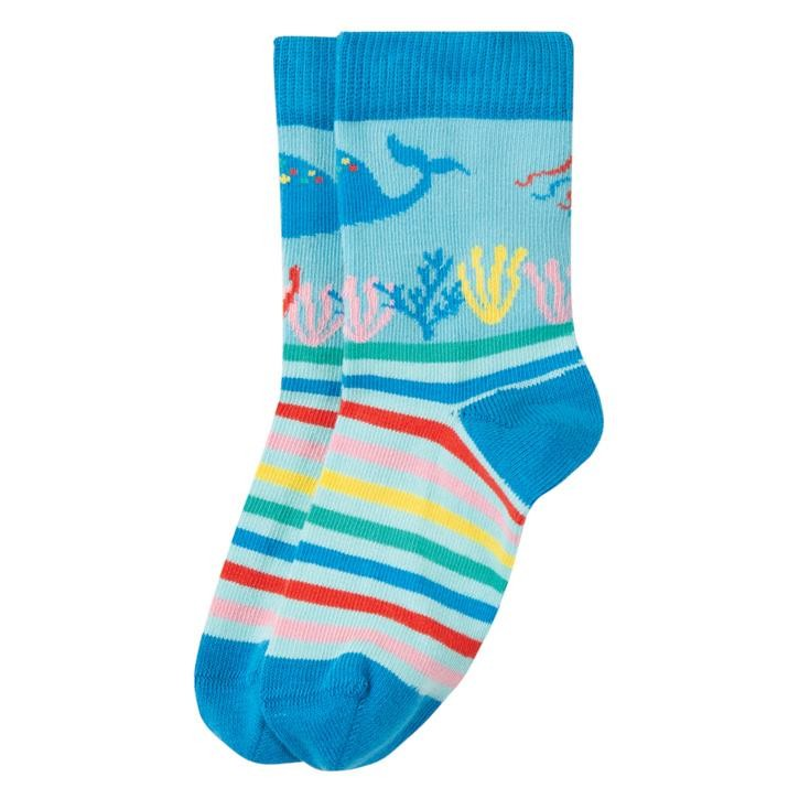 Frugi Perfect Pair Socken  Motosu Blue/Sea